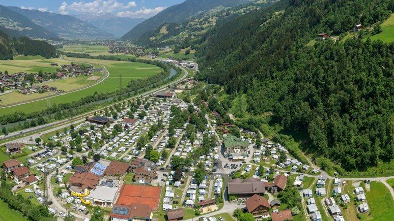 Zážitkový kemp Aufenfeld v Zillertalu v Tyrolsku, © Camping Aufenfeld