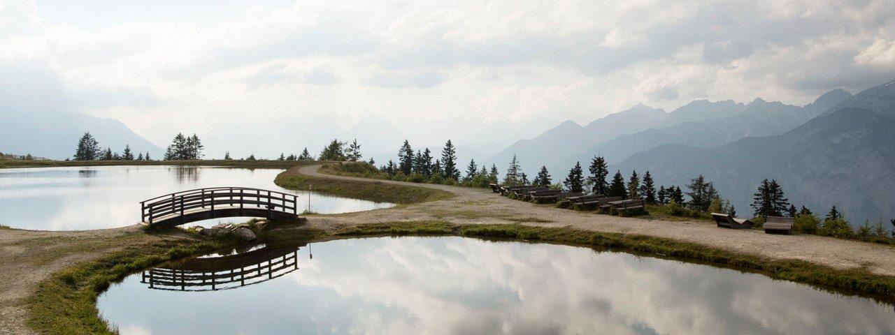Uměle vytvořené jezero u Mutterer Alm, © Tirol Werbung/Frank Bauer