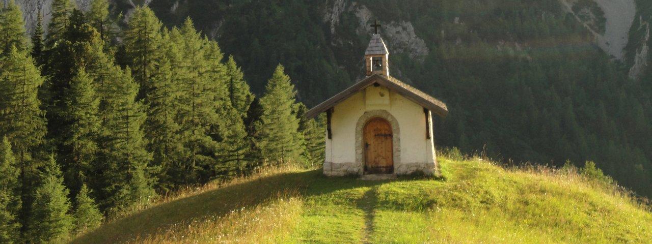 11. etapa Orlí stezky: kaplička u Hallerangeralm, © Tirol Werbung/Holger Gassler