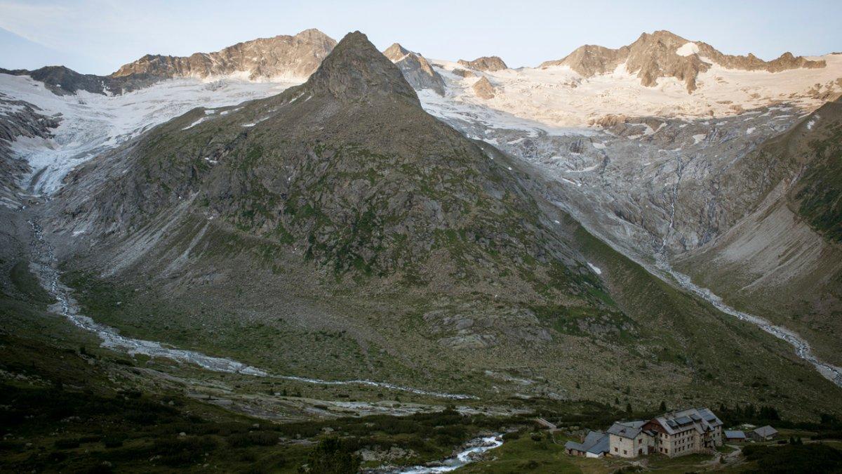 Chata Berliner Hütte v Zillertalských Alpách